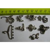 Фурнитура для бижутерии  металлическая (остатки)