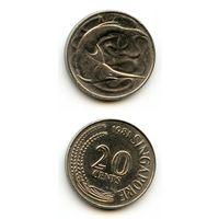 Сингапур 20 центов 1981 г. (Рыба)