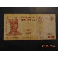 Молдавия 1 лей 2006 г.