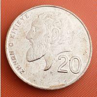 101-09 Кипр, 20 центов 2001 г.