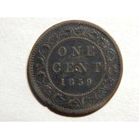 Канада 1цент 1859г