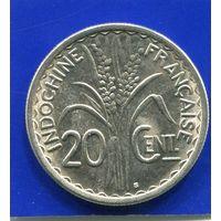 Французский Индокитай 20 центов 1941 , VF