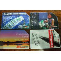 4 телефонных карточки Италия