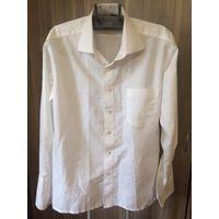 Рубашка белая мужская, р. 46/176, Louis Veritable, реально размер думаю больше, ориентируйтесь на замеры: длина 75 см, ПОгруди 59 см, длина рукава 59 см, рукав предполагает запонки. 80% хлопка. Хороше