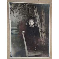 Фото девочки Люси. 1949 г. 9х12 см.