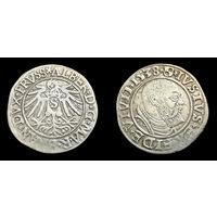 ПРУССИЯ. ГРОШ 1538 Г. ПОСЛЕДНИЙ ВЕЛИКИЙ МАГИСТР ТЕВТОНСКОГО ОРДЕНА. ПЕРВЫЙ ГЕРЦОГ ПРУССИИ АЛЬБРЕХТ БРАНДЕНБУРГ - АНСБАХСКИЙ (1490-1568)