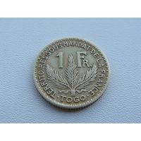 """Того """"Французское""""  1 франк 1925 год  KM#2"""