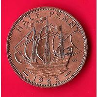 01-16 Великобритания, 1/2 пенни 1965 г.