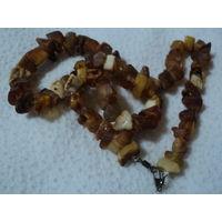 Бусы из натурального янтаря(23гр),лот 7