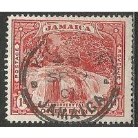 Ямайка. Водопад. 1900г. Mi#31.