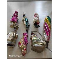 Ёлочные игрушки, 7 шт. С рубля