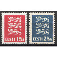 Эстония\778\1935 Mi 106-107 герб,  MH