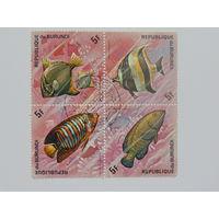 Бурунди 1974г. Рыбы.