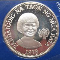 Филиппины, 50 песо, 1979, серебро, пруф