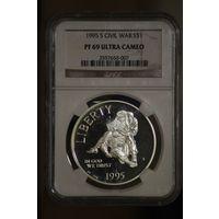 1 доллар 1995 Гражданская война
