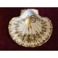 Ваза в форме Ракушки Франция роспись золотом