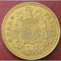 5860:  1 песета 1975 (80) Испания КМ# 806 алюминиевая бронза