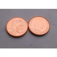 1 евроцент Люксембург 2008