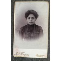 Фото барышни. До 1917 г. Кременчуг. 6.5х11 см.
