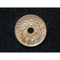 Голландская Индия 1 цент 1945г