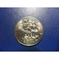 Новая Зеландия 50 центов 1987 г.-суперсохран