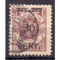 Клайпеда (Мемель) Вспом. выпуск НДП в лит. валюте 30 ц/500 м 1923 г