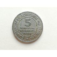 Нотгельд - 5 марок 1923 года. Шлезвиг. Нотгельды 1-2-1