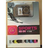 """Спорт видеокамера  SPORTS FULL HD1080P H.264 1.5 """"TFT ЖК-экран 5.0MP Водонепроницаемая"""
