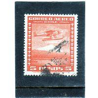 Чили. Mi:CL 212. Самолет над полем. Серия: Воздушная почта. 1934.