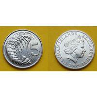 Каймановы острова 5 цент 2005г.