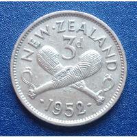 Новая Зеландия 3 пенса 1952 Георг VI