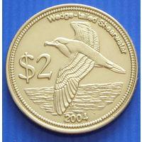 Кокосовые острова.  2 доллара 2004 год  X#16