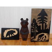 Медведь ссср, советский мишка деревянный, картины с медведями
