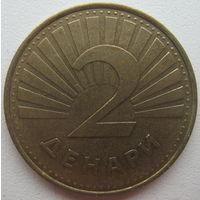 Македония 2 денара 2001 г.