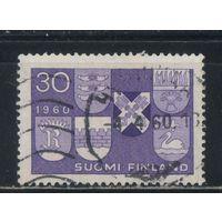 Финляндия 1960 Получение поселениями Хювинкяэ Коувола Риихимяки Рованиеми Сало Сяйняйоки статуса города Новые гербы #515