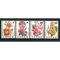 Конго - 1971 - Цветы - [Mi. 425-428] - полная серия - 4 марки. MNH.