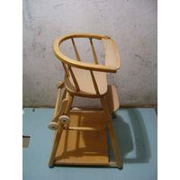 Деревянный детский стульчик трансформер (СССР)
