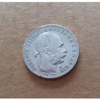 Австро-Венгрия, 1 форинт (флорин) 1883 г., венгерский тип, серебро
