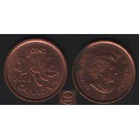 Канада _km490 1 цент 2006 год km490 не магнит ZnCu (L) (f31)