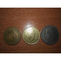 БЕЗ МИНИМАЛЬНОЙ ЦЕНЫ!!!  Испания. 3 монеты одним лотом.