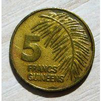 Гвинея. 5 франков 1985 г.