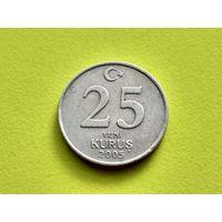 Турция. 25 новых курушей 2005.