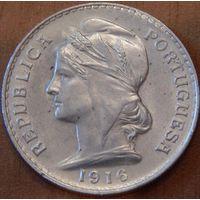 25. Португалия 50 сентавов 1916 год, серебро*