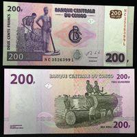 Банкноты мира. Конго, 200 франков