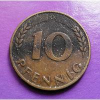 10 пфеннигов 1950 (G) ФРГ #02