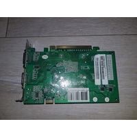 Видеокарта Geforce 8600gt 256mb, 128 бит, ddr3, 2 выхода DVI-I, S-video, 2560 x 1600 при подключении к DVI монитору, 2048 x 1536 @ 85 Гц (при подключении к аналоговому монитору).