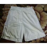 Шорты белые р.48, тонкий джинс