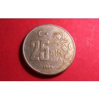 25000 лир 1999. Турция
