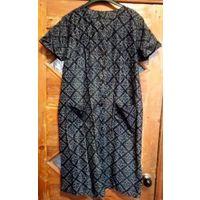 Халат женский, искусственный шелк, на р-р 52-54