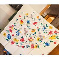 Ткань купон-платок 0.9х0.9(шёлк 100%, ВИНТАЖ) идеально для американской проймы